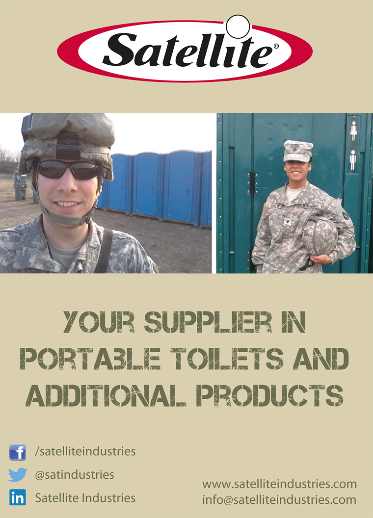 Portable toilets by SATELLITE INDUSTRIES at FF14