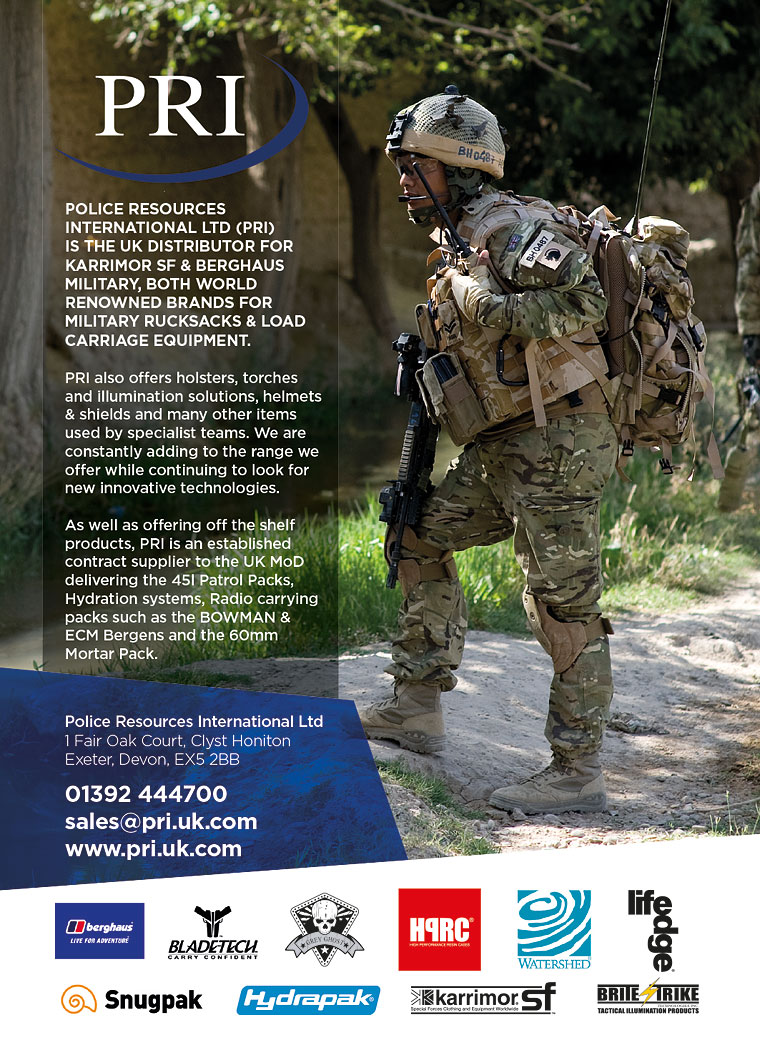 Police Resources International presents world brands of military rucksacks